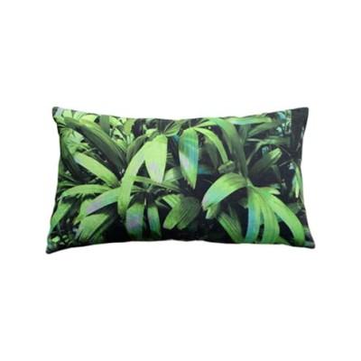 Zingy Palm Print Rectangular Cushion Small