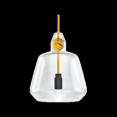 Large Knot Pendant Lamp Yellow