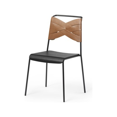 Torso Chair Black/cognac