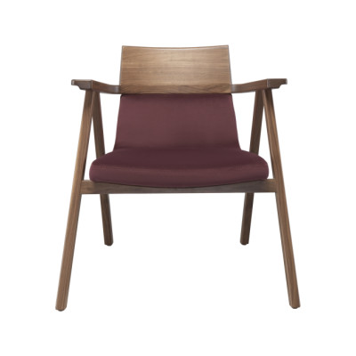 Pensil Lounge Chair Oak Natural, Lana 028 Rosewood