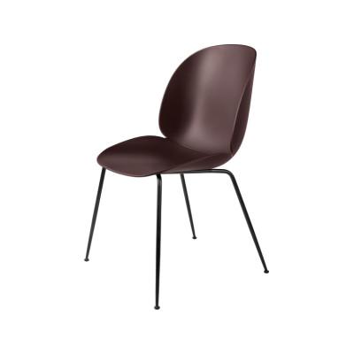 Beetle Dining Chair - Conic Base Plastic Dark Pink, Frame Matt Black