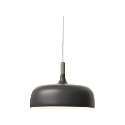 Acorn Pendant Light Walnut, Matt Grey