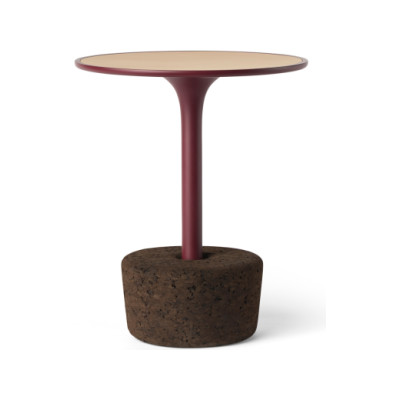 Flora Small Tall Coffee Table Luxury Red, tall