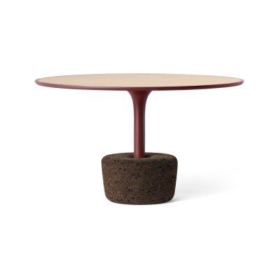Flora Wide Tall Coffee Table  Luxury Red, Tall