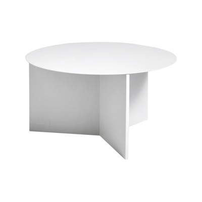 Slit Round Side Table White, Ø65 cm
