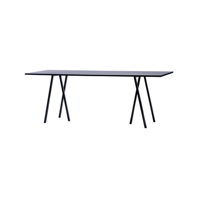 Loop Stand Rectangular Dining Table Black, 250