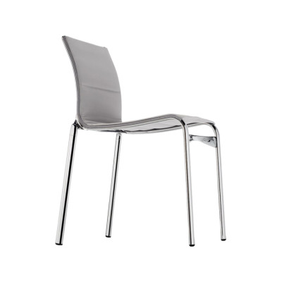 Highframe Dining Chair 40 Mesh S - R026, Stove Enamelled Aluminium - A009