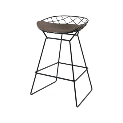 Kobi Stool Synthetic Leather Stamskin Top - 07422, Stove Enamelled Steel - A009, 73cm
