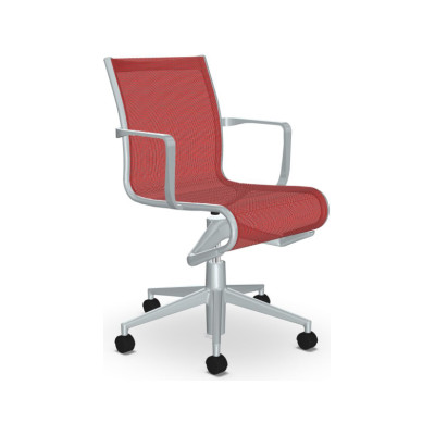 Rollingframe 44 Chair with Arms Mesh S - R026, Stove Enamelled Aluminium - A009