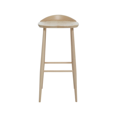 Originals Bar Stool with Back Beech + Stained Ash - LM-Beech-Ash, Low