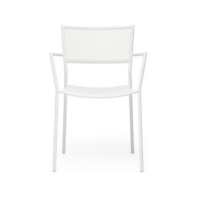 Jig Mesh Armchair White - RAL 9003