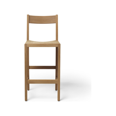 Waiter Bar Stool Red Lacquered Beech