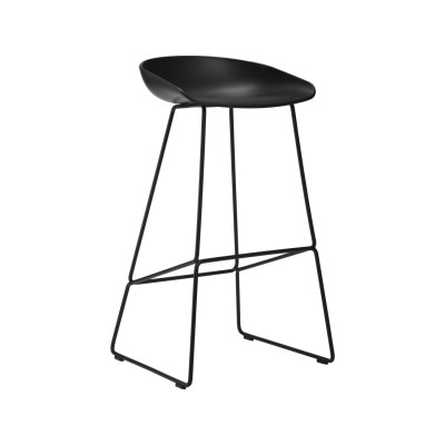 About A Stool AAS38 - Ex display White Seat and White Base, High