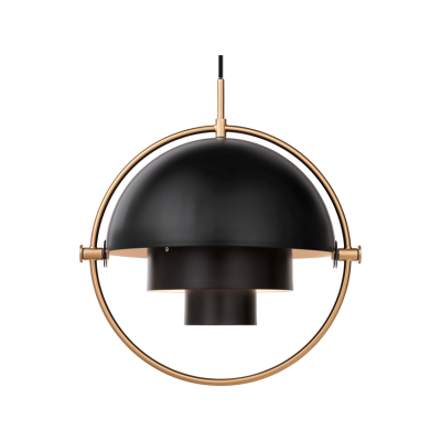 Multi-Lite Pendant Light Charcoal black, Brass