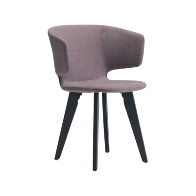 Taormina Armchair Wood Base Camira Urban - YN094, Wood - RV