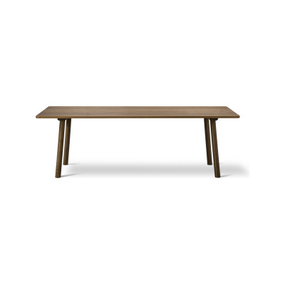 Taro Dining Table 180 x 80, Oak Lacquered, Milled