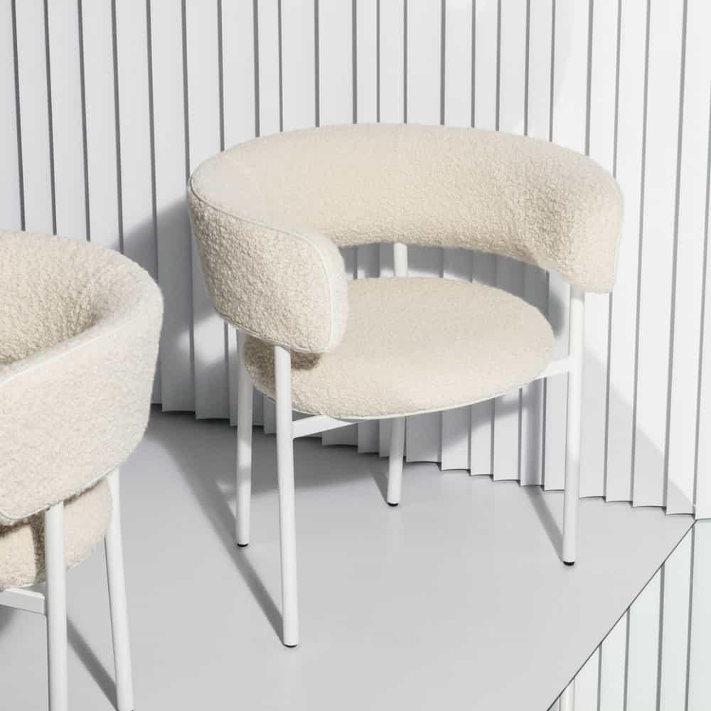 Bouclé Bobbles: soft fabrics build on the '70s revival