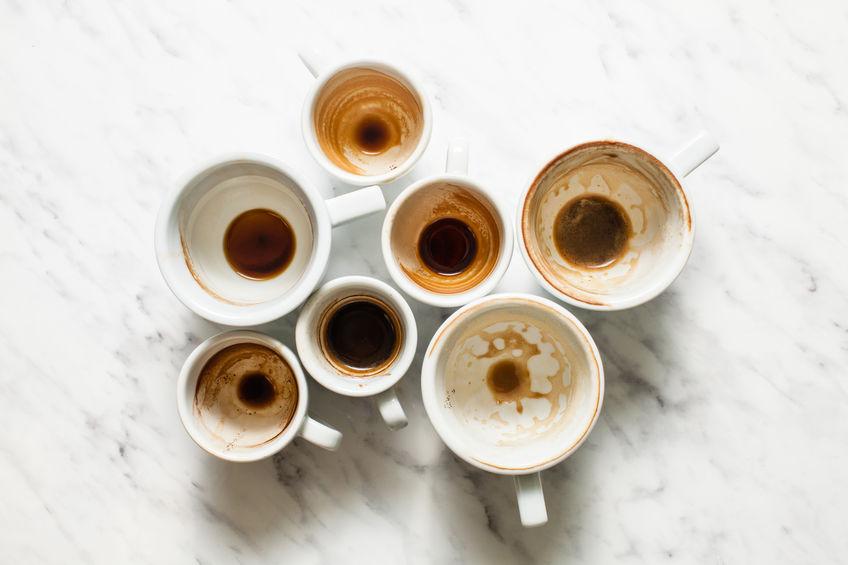 dirty coffee cups