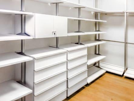 Closet de lujo en laminado Laminart color blanco