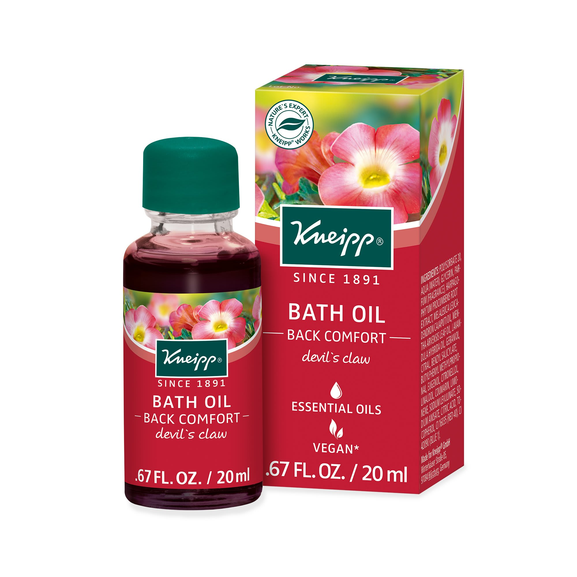 Kneipp Back Comfort Bath Oil