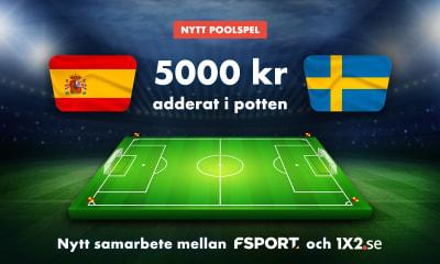 Speltips: Missa inte att tävla om gratispengar på Sverige - Spanien och övriga matcher på Fsport