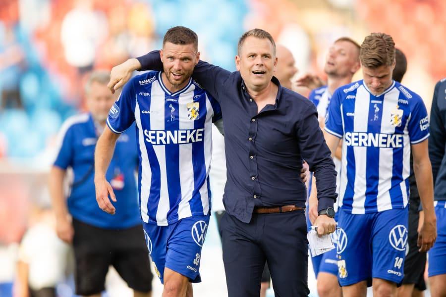IFK Göteborg  (Marcus Berg och tränare Mikael Stahre)