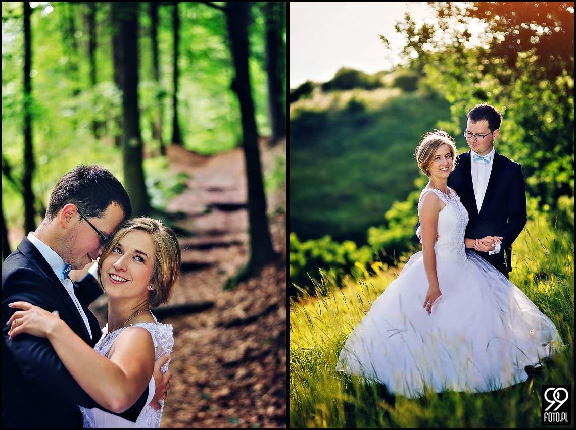 Sesja ślubna Dolina Bolechowicka i Kryspinów