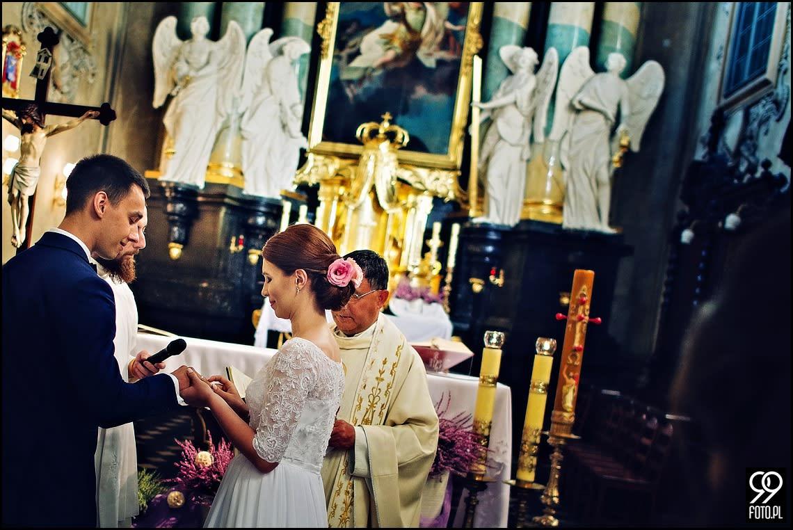 Reportaż ślubny Kościół na Skałce Kraków