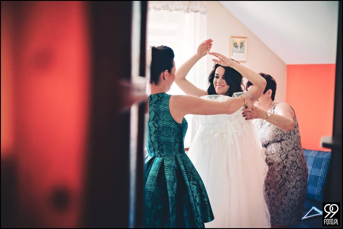 Dekoracja sali weselnej, styl rustykalny, OSP Zawada