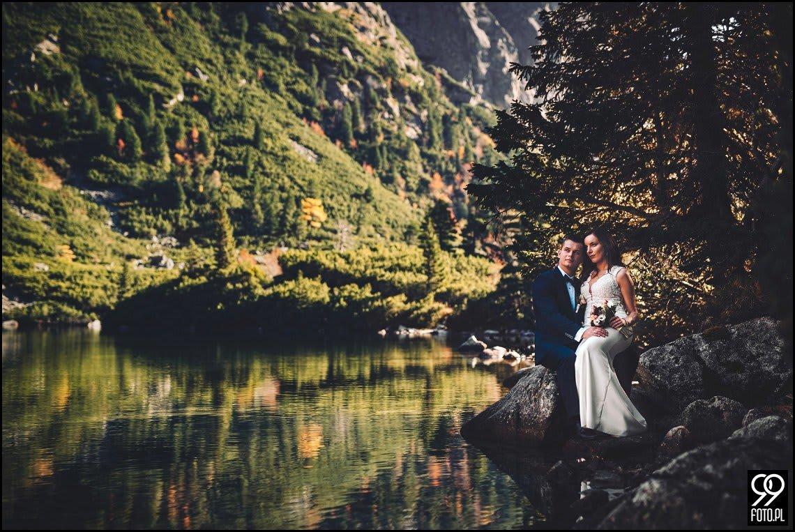 Sesja ślubna Strbskie Pleso, Popradzki Staw, Słowacja