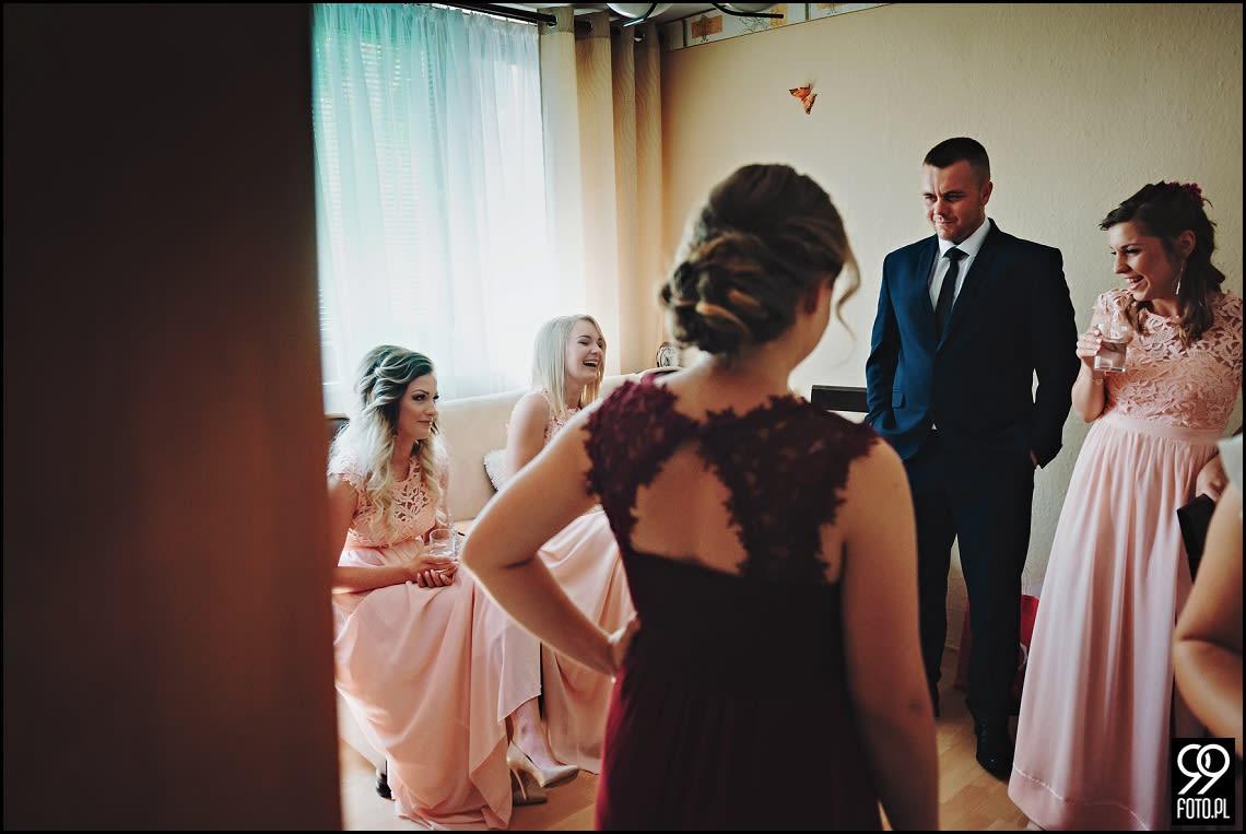 Reportaż ślubny Hotel Junior Kraków, balonowy szał