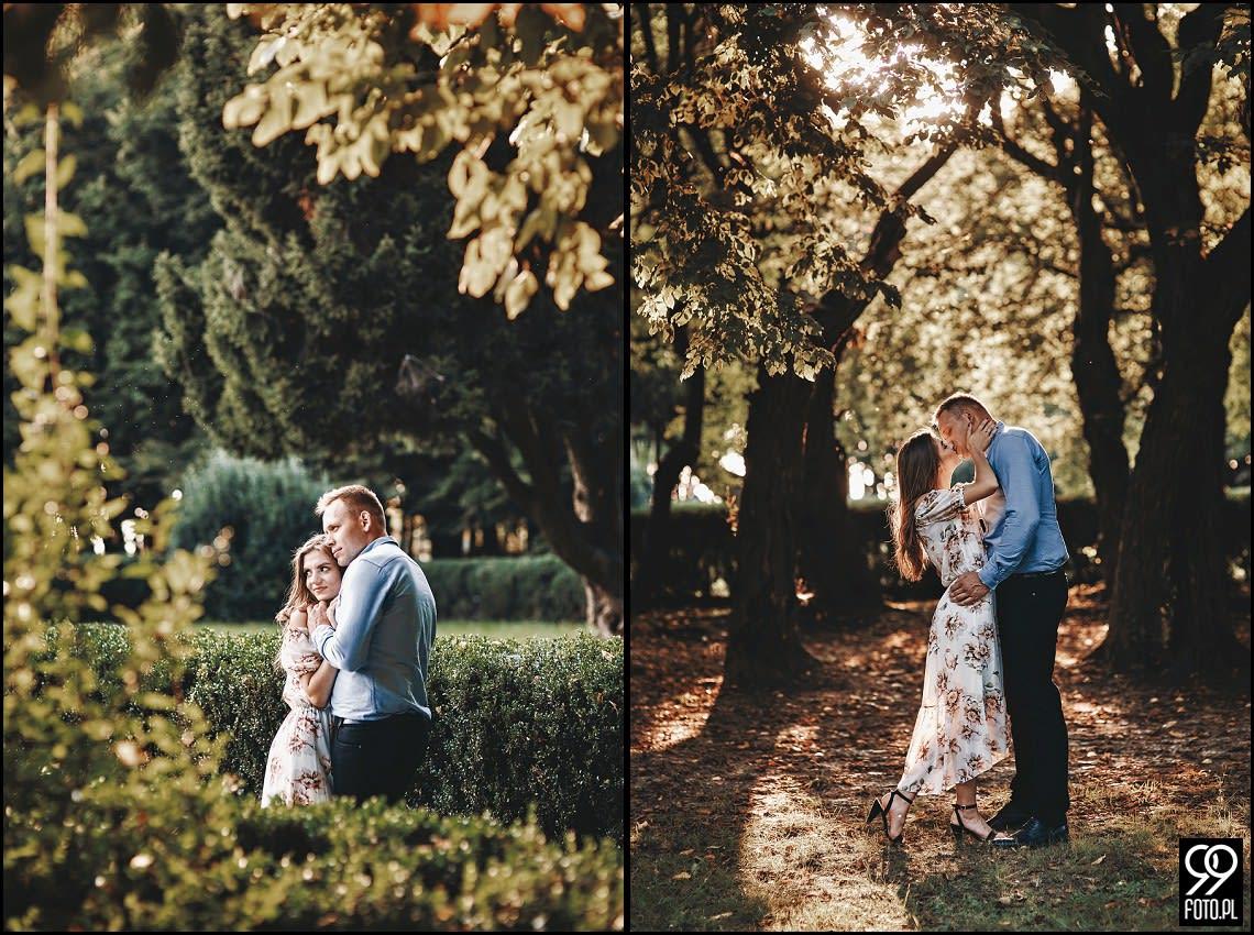 Park Mogilany, buziaki skąpane w promieniach słońca