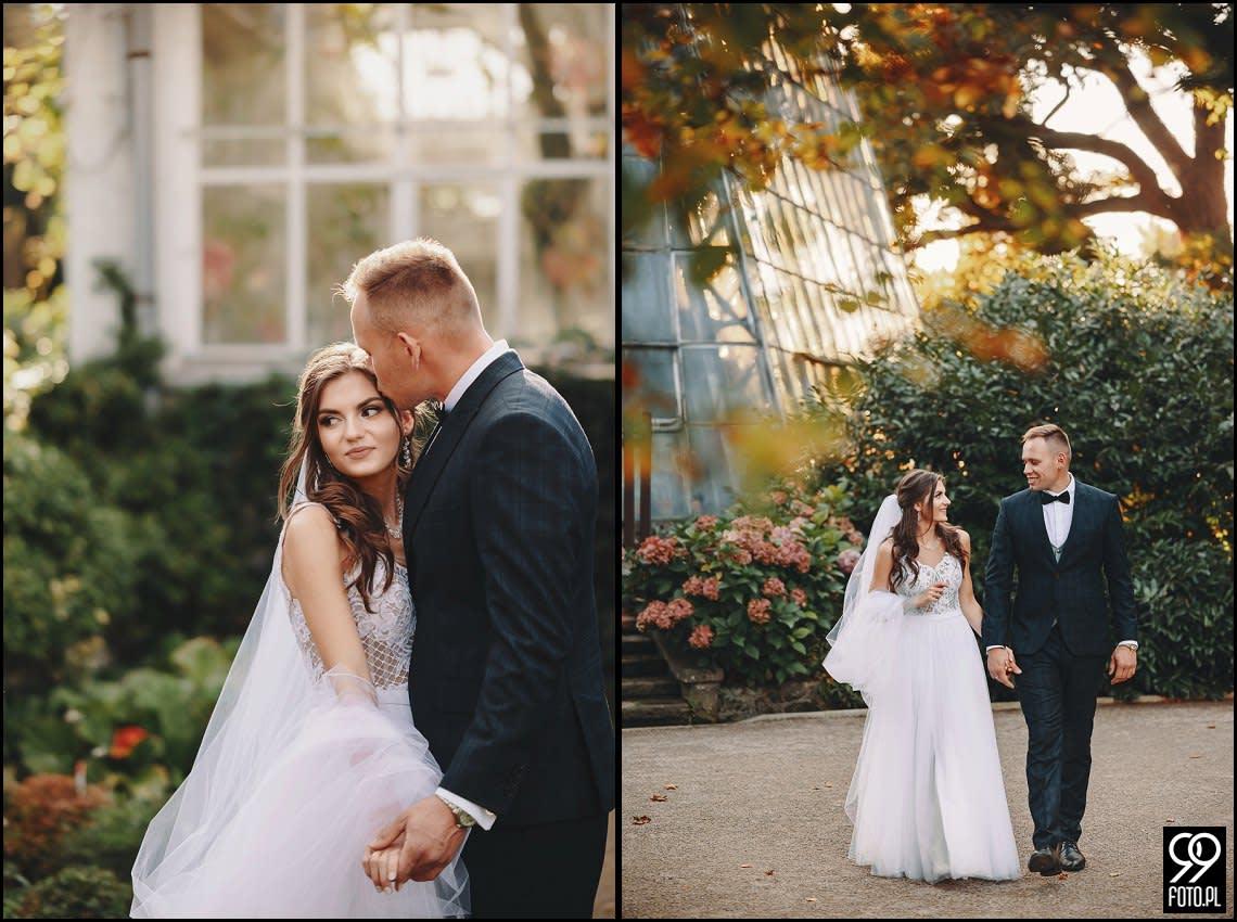 Plener ślubny w Krakowskim Ogrodzie Botanicznym