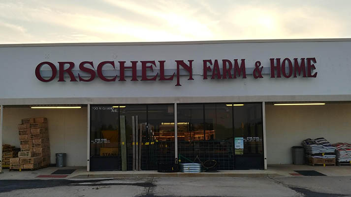 Front view of Orscheln Farm & Home Store in Mt. Pleasant, Iowa 52641