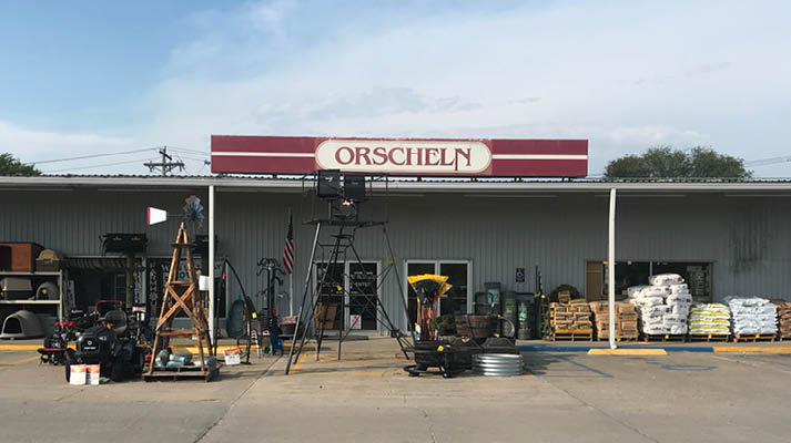 Front view of Orscheln Farm & Home Store in Shelbina, Missouri 63468