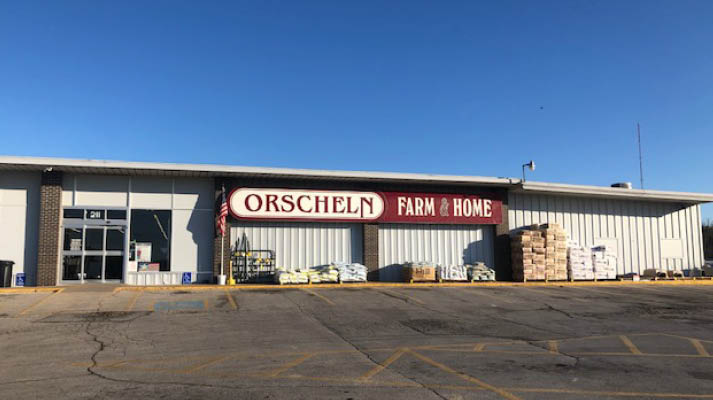 Front view of Orscheln Farm & Home Store in Parsons, Kansas 67357