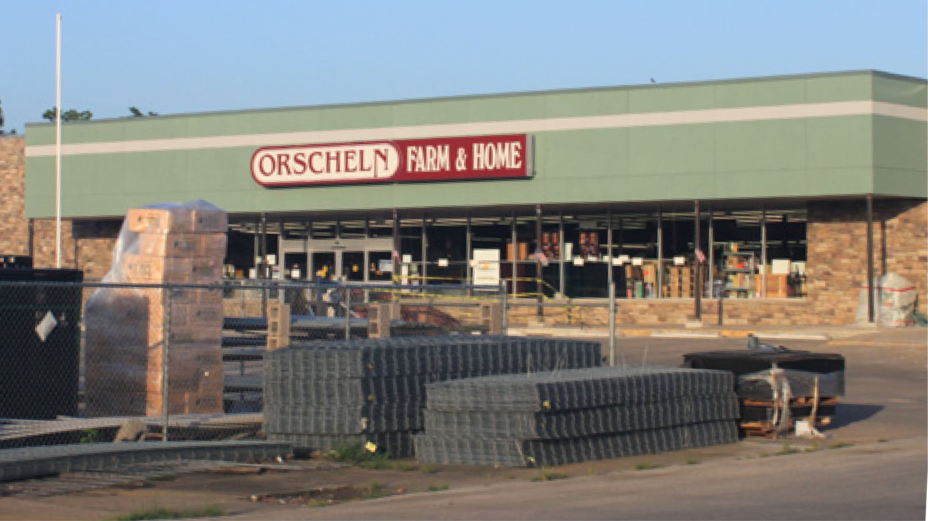 Front view of Orscheln Farm & Home Store in Okmulgee, Oklahoma 74447
