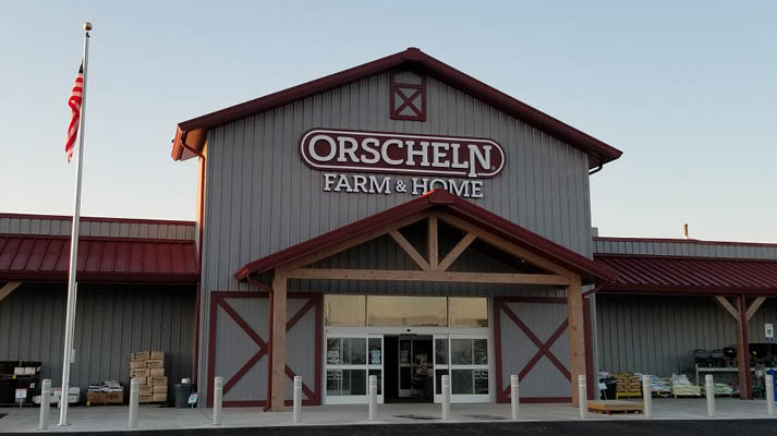 Front view of Orscheln Farm & Home Store in Dexter, Missouri 63841
