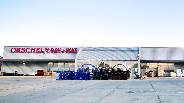 Front view of Orscheln Farm & Home Store in Richmond, Missouri 64085