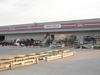 Front view of Orscheln Farm & Home Store in Higginsville, Missouri 64037