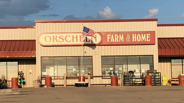 Front view of Orscheln Farm & Home Store in Kearney, Missouri 64060