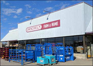 Front view of Orscheln Farm & Home Store in Holden, Missouri 64040