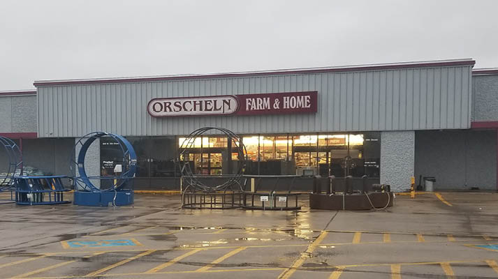 Front view of Orscheln Farm & Home Store in Lamar, Missouri 64759