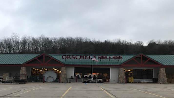 Front view of Orscheln Farm & Home Store in Hermann, Missouri 65041
