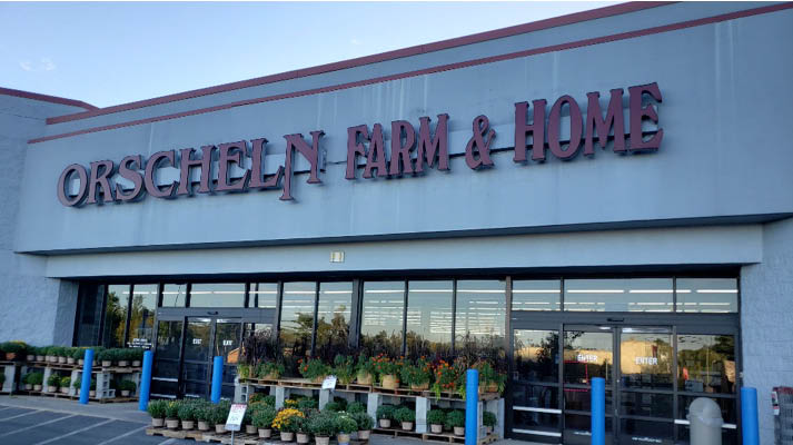 Front view of Orscheln Farm & Home Store in North Vernon, Indiana 47265