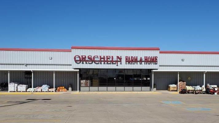 Front view of Orscheln Farm & Home Store in Ellsworth, Kansas 67439