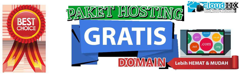 *Gratis domain selama berlangganan hosting ditempat kami