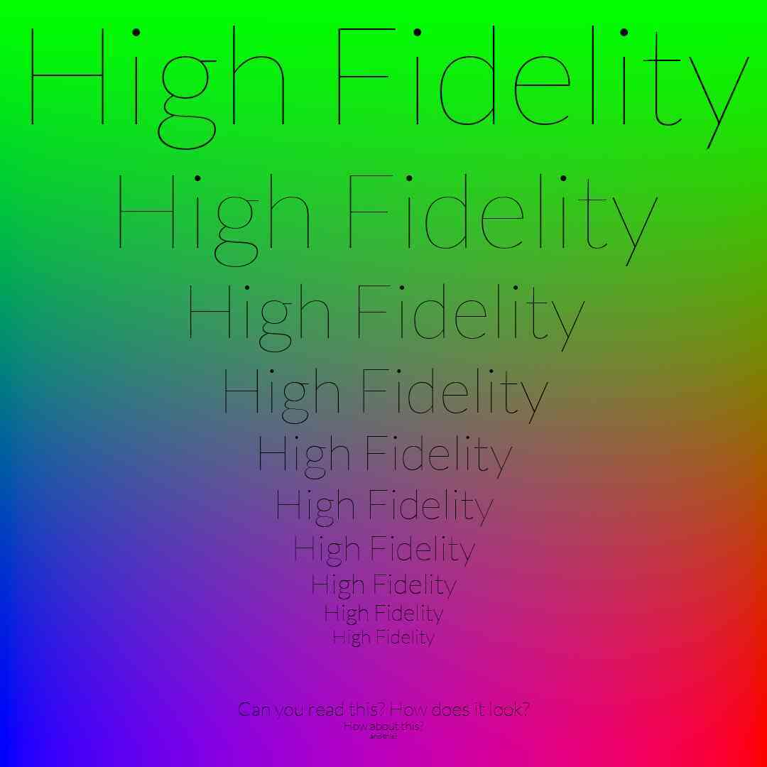 high fidelity JPEG