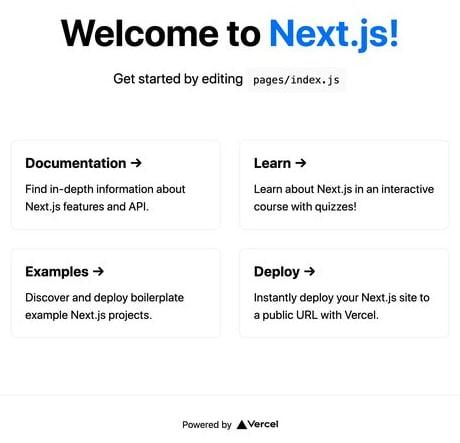 Next.js app