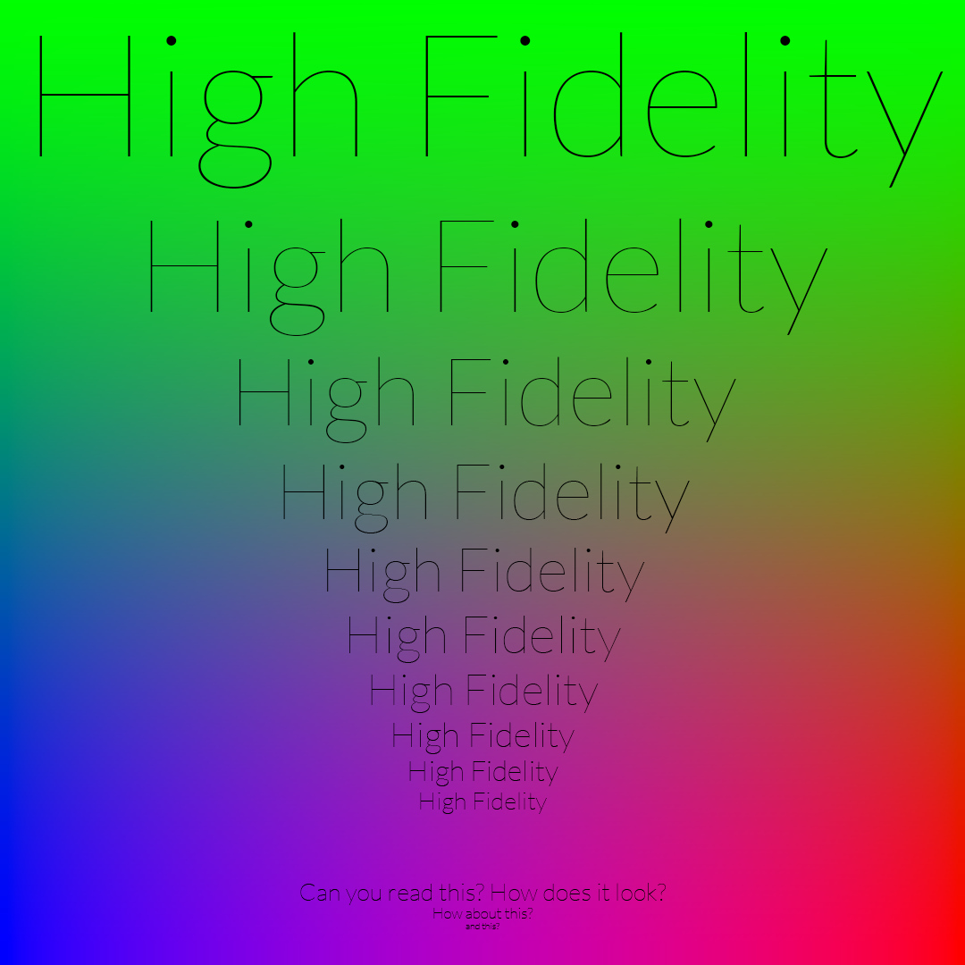 high fidelity PNG
